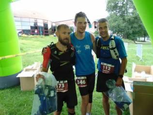 Le trio de tête du 90 km avec de gauche à droite Lecochois, Reichenbach & Loitron