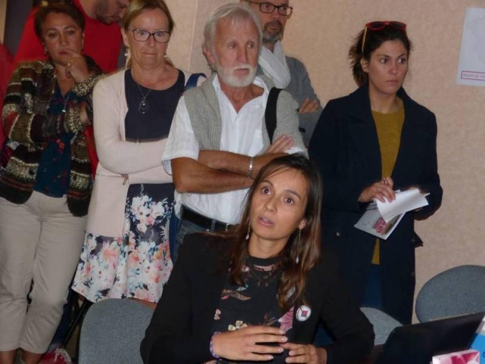 Cyrielle François à la présentation de la Route VTT
