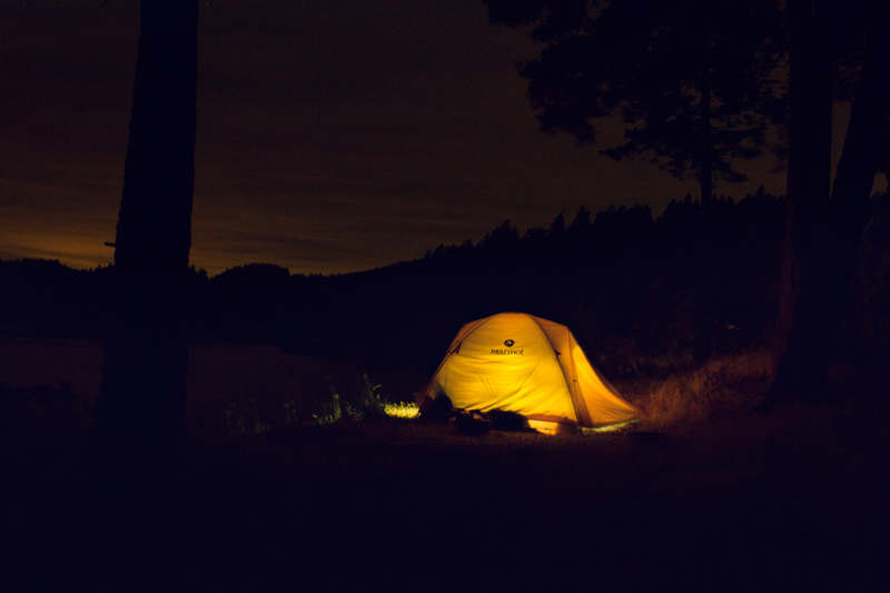 long exposure night tent