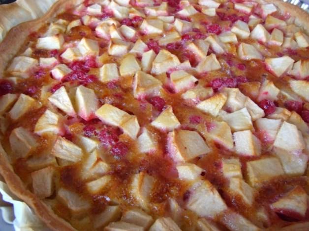appeltaart met rode besjes