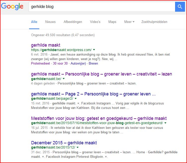 Google gerhilde blog