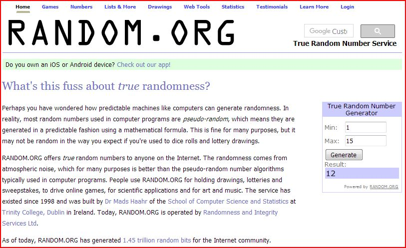 winnaar massage random 15
