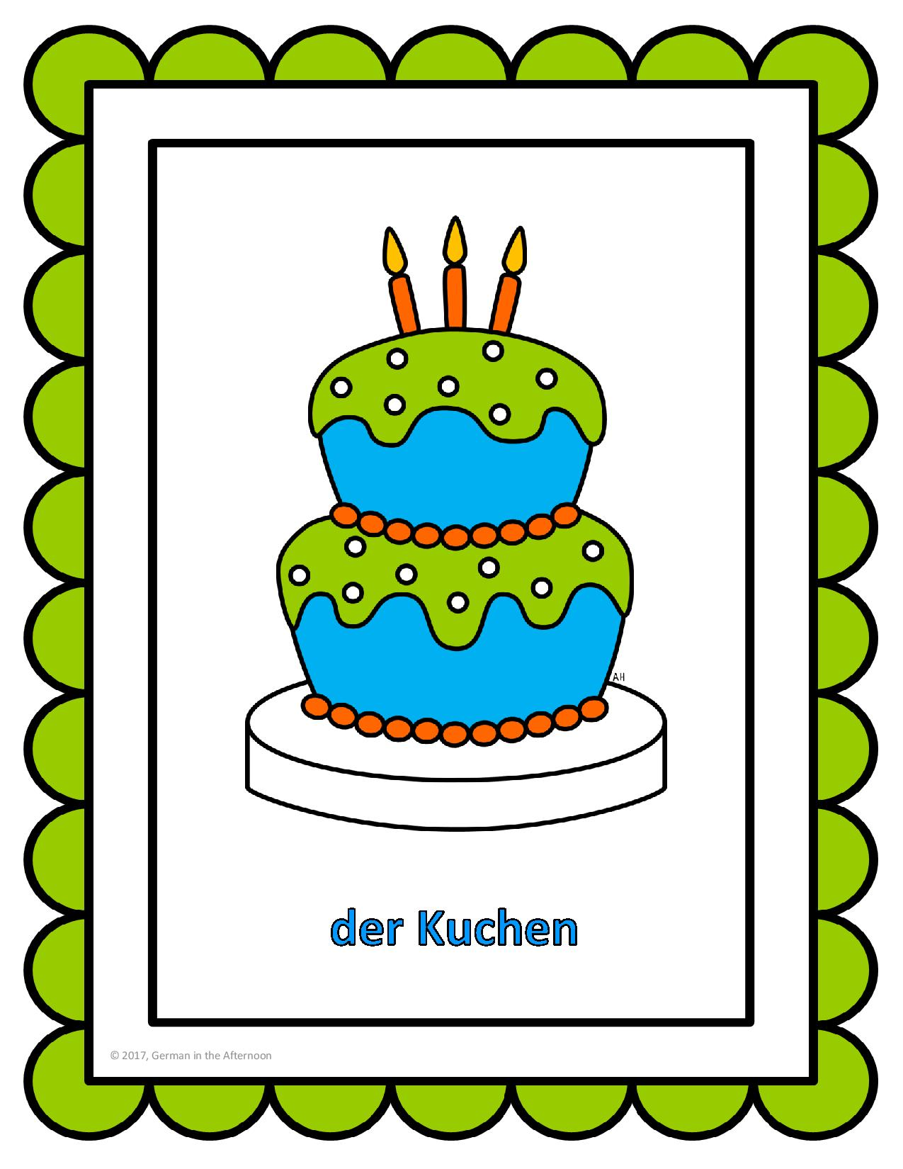 Dornröschen Kuchen Happy Birthday German In The Afternoon Activities