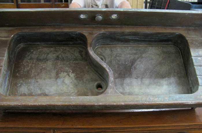 German Silver Sink Restoration