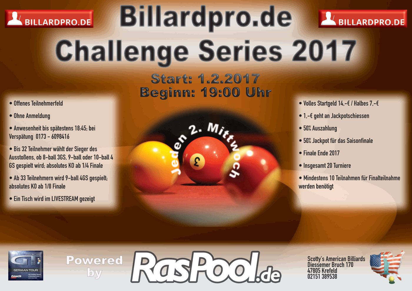 Billard Oldenburg Kalender Resultate