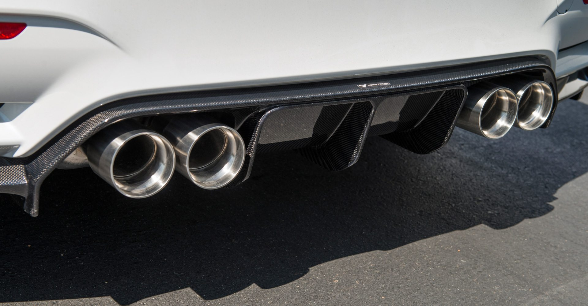 M4 Performance Exhaust Vrs Gts 90mm Stainless Steel Exhaust Tip Set Black Diamond Finish Bmw F8x M3 M4