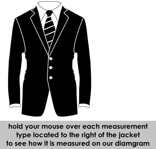 Mens Size Chart for Lederhosen, Trachten Suits, Jackets and Coats