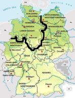 map showing region of north Germany