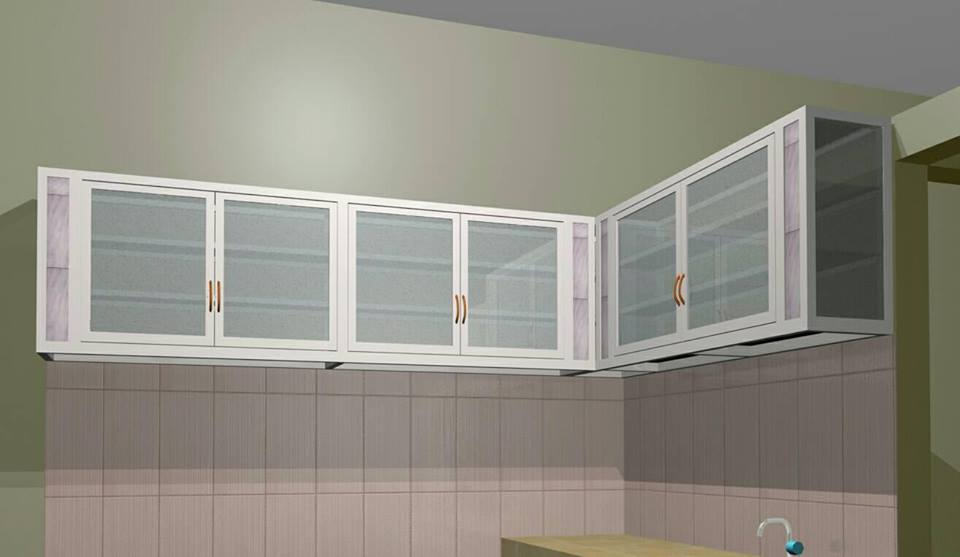 Kitchen Set Aluminium Coklat Jasa Pembuatan Kitchen Set Aluminium Composite Panel