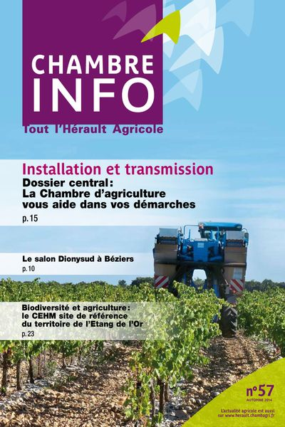 Chambre Info N 57 Automne 2014 Chambre D 39 Agriculture Gers