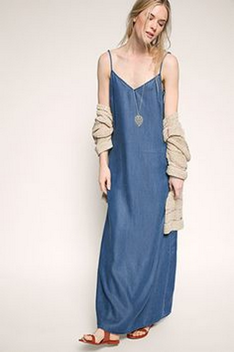 Www Tom Tailor Jeanskleid Maxi