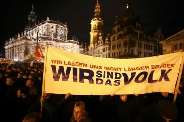 Pegida-Demonstration, Dresden, 2014; Quelle: tageswoche.ch