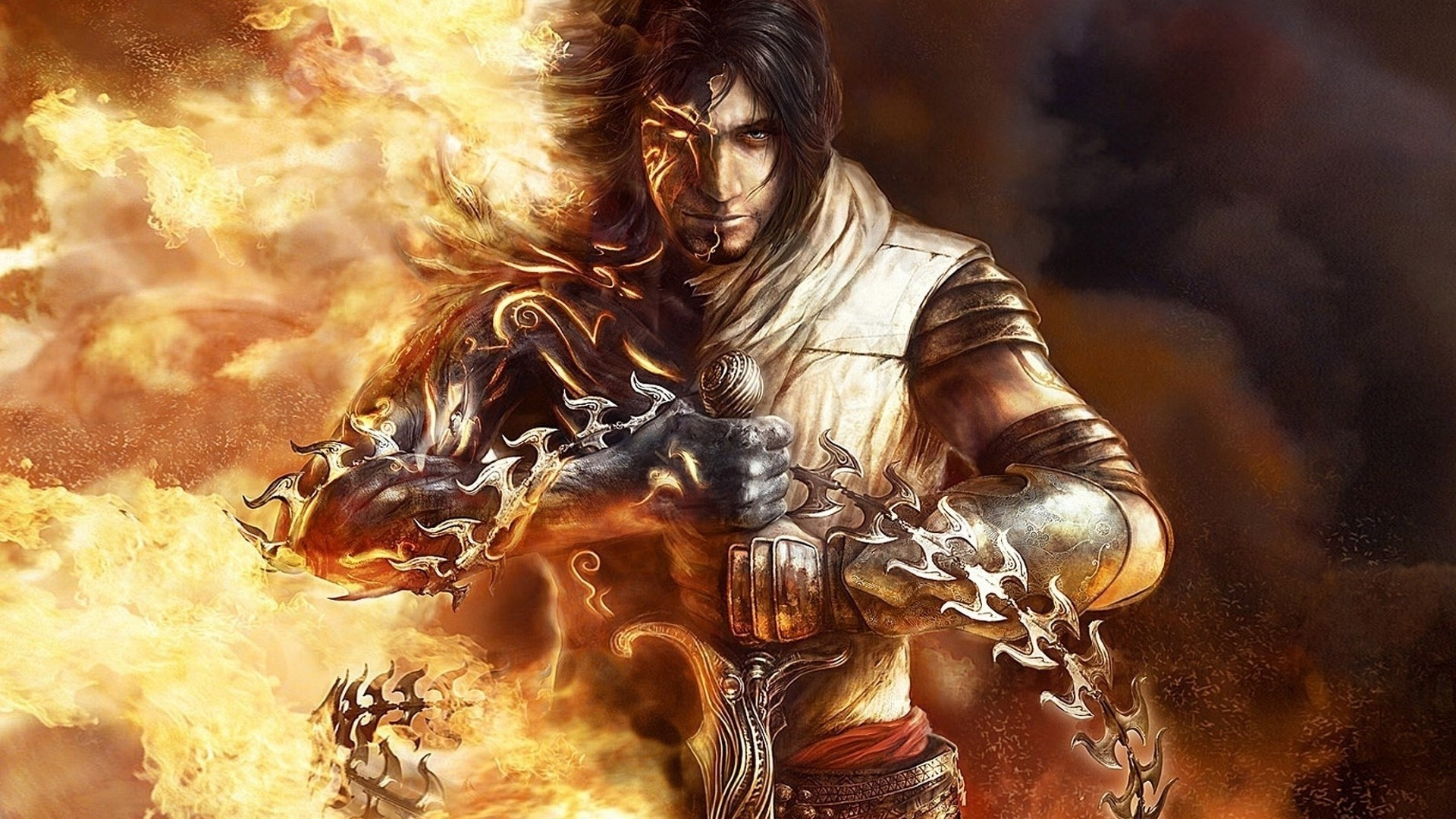 Prince Of Persia The Two Thrones Hd Wallpapers 1080p Wallpaper 1920x1080 Px Armor Fantasy Art Fire Heroes
