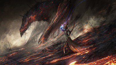 Wallpaper : 1920x1080 px, artwork, Deathwing, DeviantArt, digital art, dragon, fantasy art, lava ...