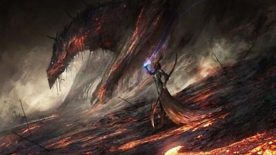 Wallpaper : 1920x1080 px, artwork, Deathwing, DeviantArt, digital art, dragon, fantasy art, lava ...