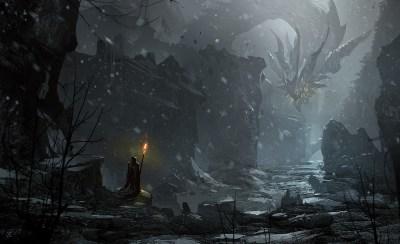 Wallpaper : 1920x1175 px, artwork, dark, digital art, dragon, fantasy art, snow 1920x1175 ...