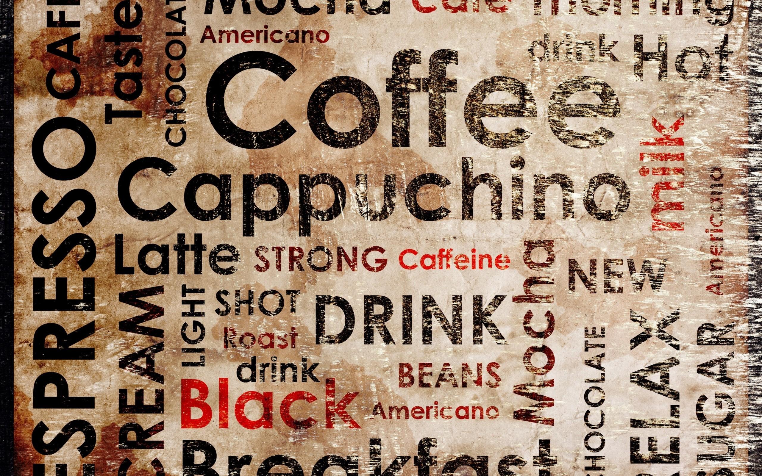 Cute Frappuccino Wallpaper Wallpaper 2560x1600 Px Coffee Typography 2560x1600