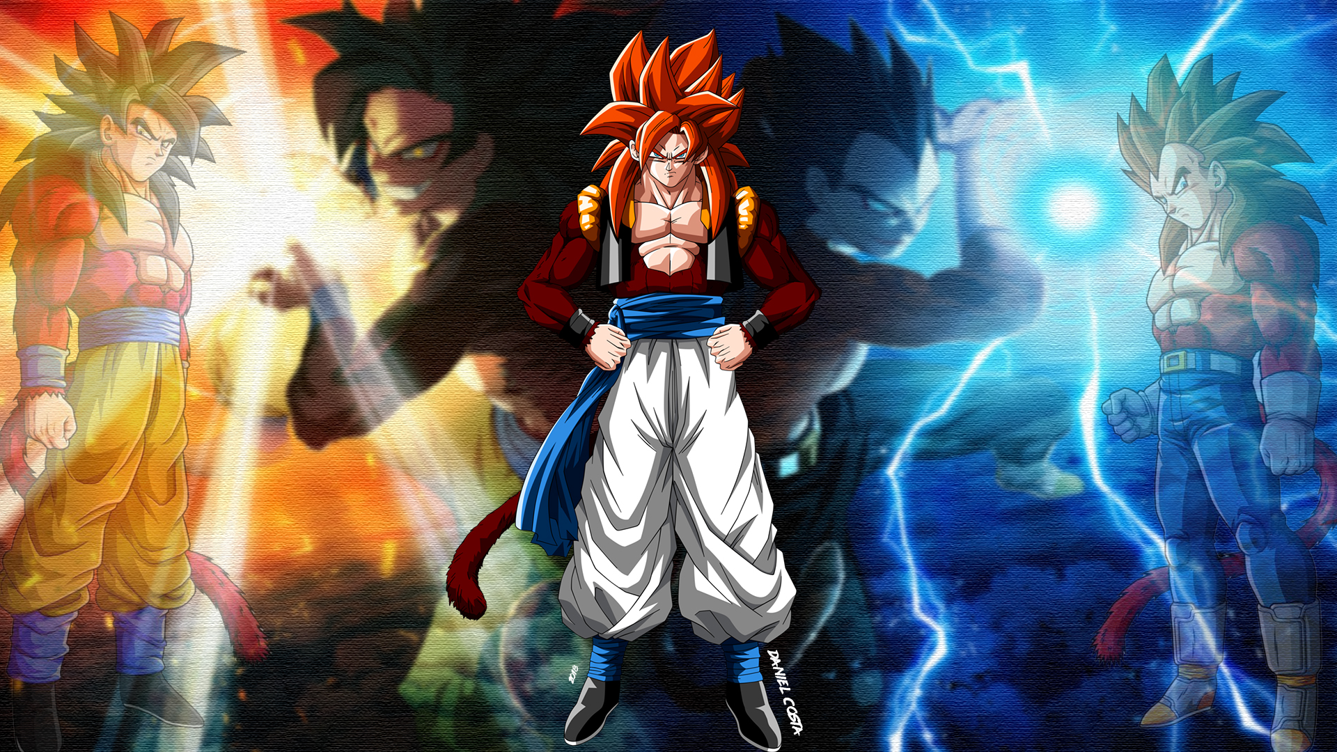Dbz Francais Hintergrundbilder Dragon Ball Dragon Ball Gt Gogeta
