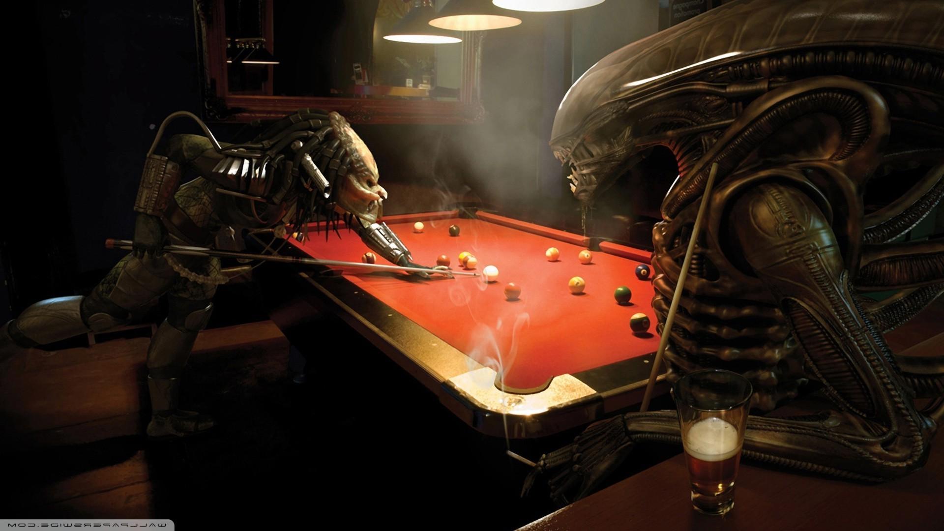 3d Wallpaper Pool Table Fond D 233 Cran Anime 3d Bar Extraterrestres Table De