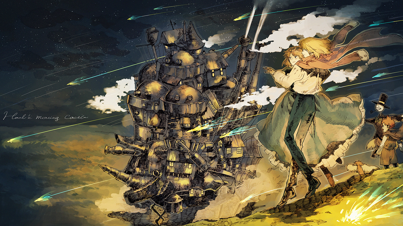 Howls Moving Castle Hd Wallpaper Wallpaper Anime Studio Ghibli Howl S Moving Castle