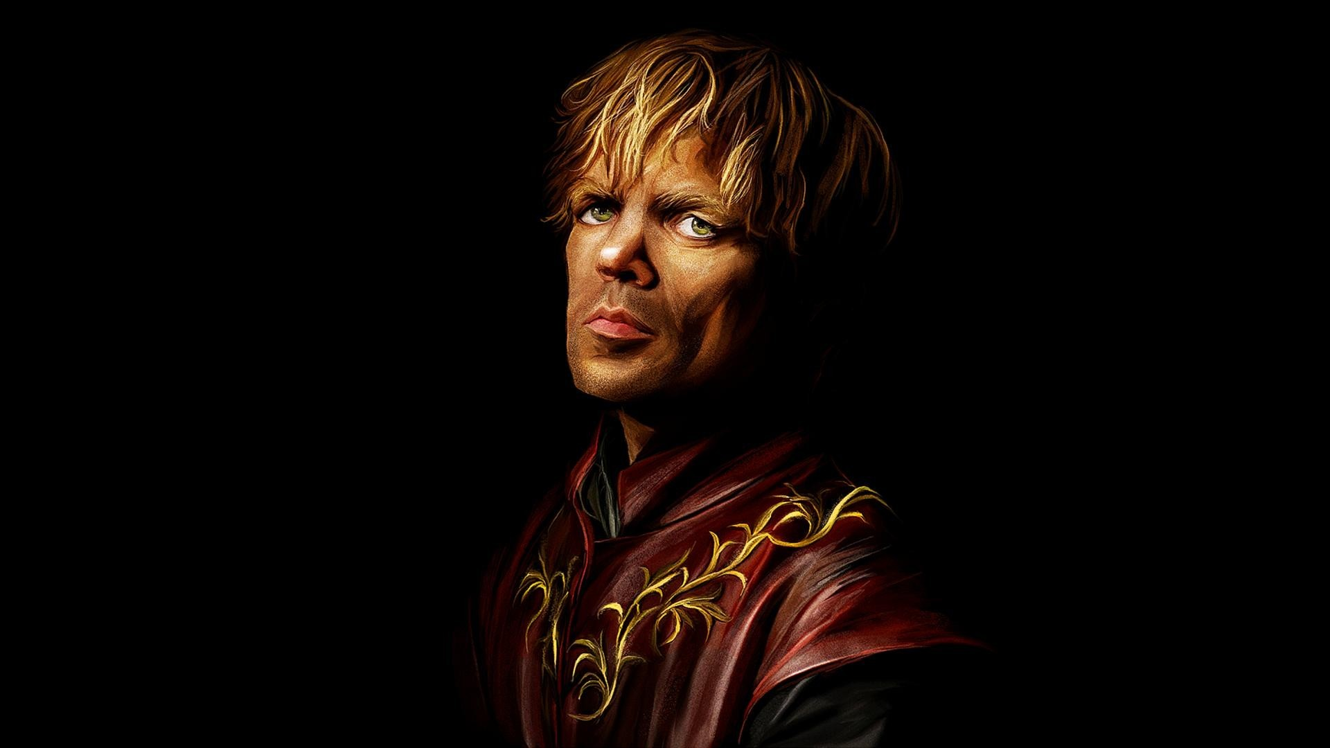 Tyrion Lannister Quotes Hd Wallpaper Wallpaper Black Background Green Eyes Artwork Game Of