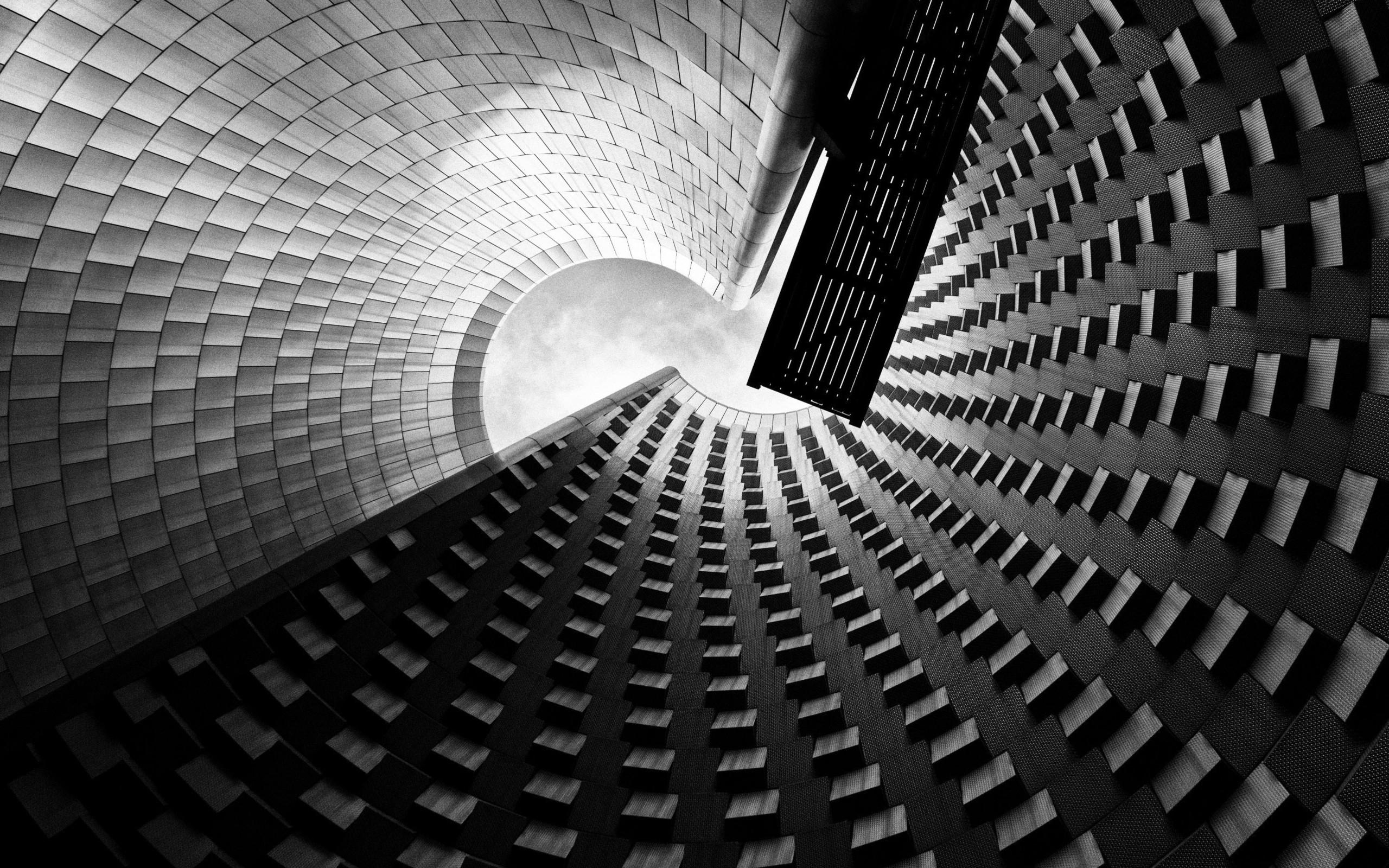 Skyscraper Wallpaper Hd Wallpaper Architecture Wall Artwork Clouds Spiral