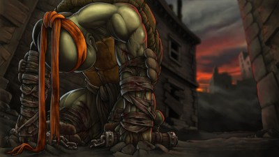 Wallpaper : blood, Person, Teenage Mutant Ninja Turtles, Michelangelo, games, screenshot ...