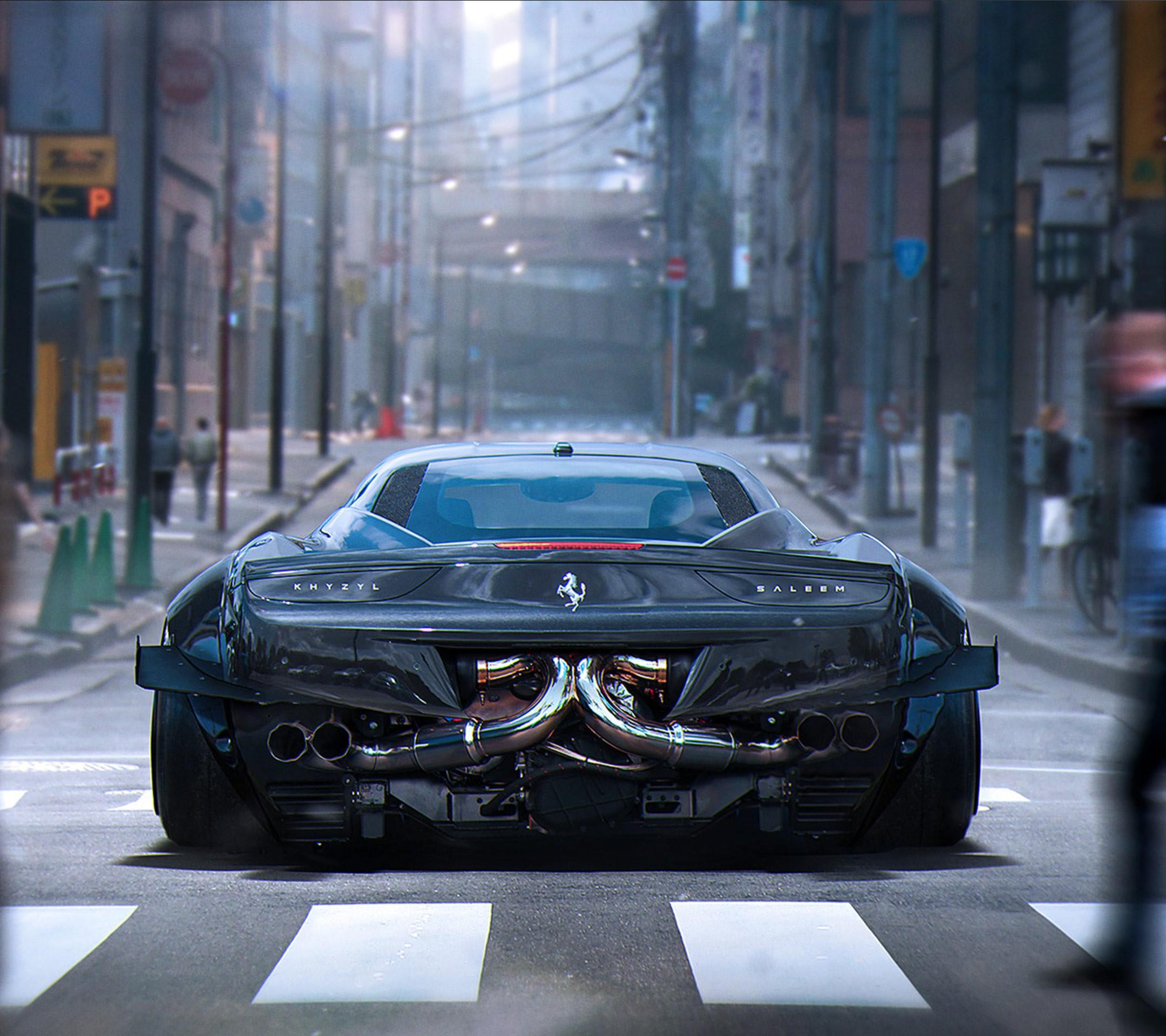 Best Future City 3d Wallpapers Wallpaper Lamborghini Aventador Sports Car Khyzyl