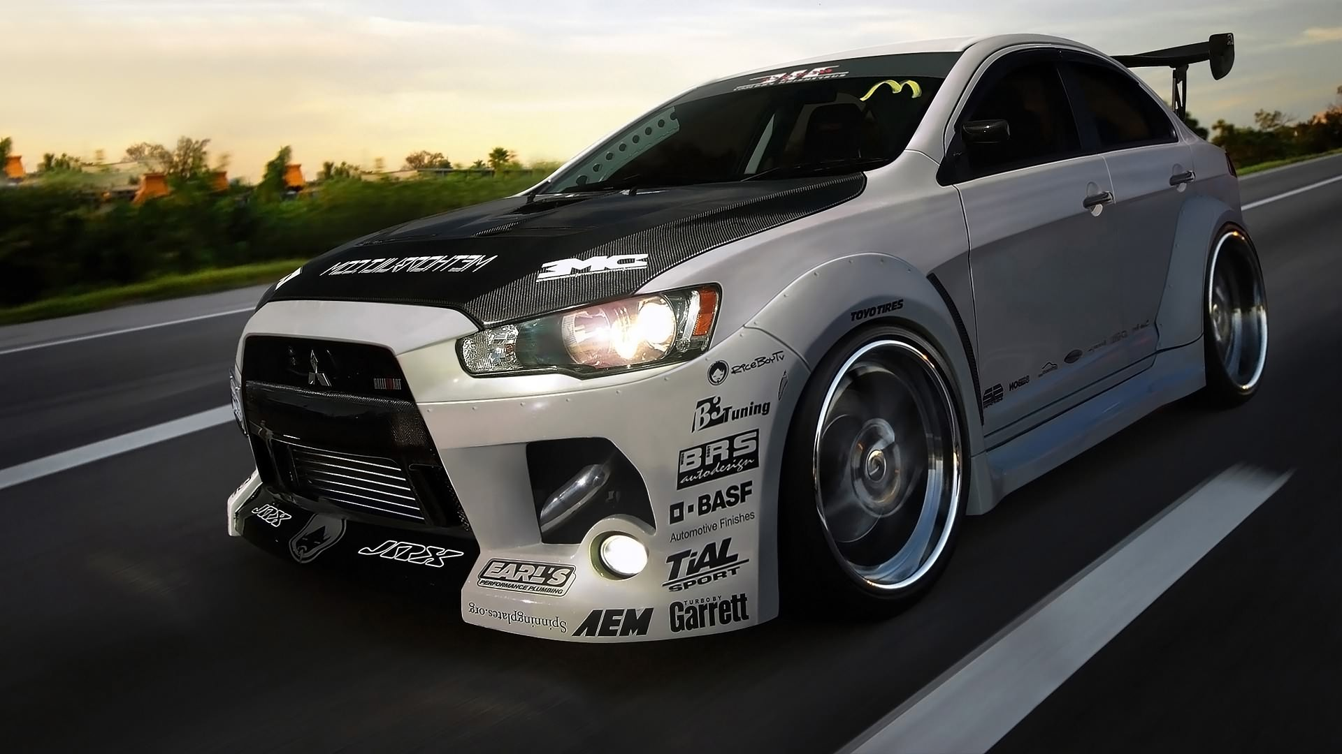 Evo 10 Wallpaper Wallpaper Road Sports Car Tuning Mitsubishi Lancer Evolution