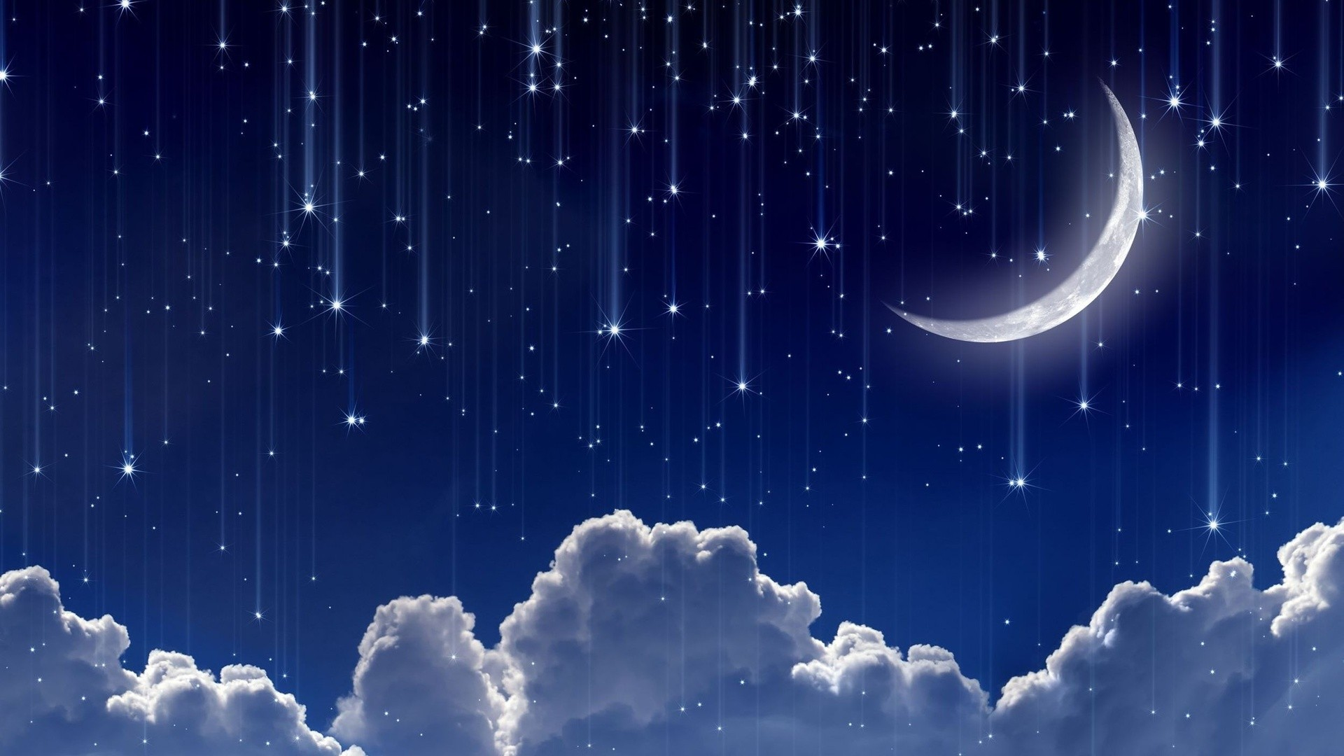 Falling Stars Wallpaper Fondos De Pantalla Arte Digital Noche Cielo Fondo