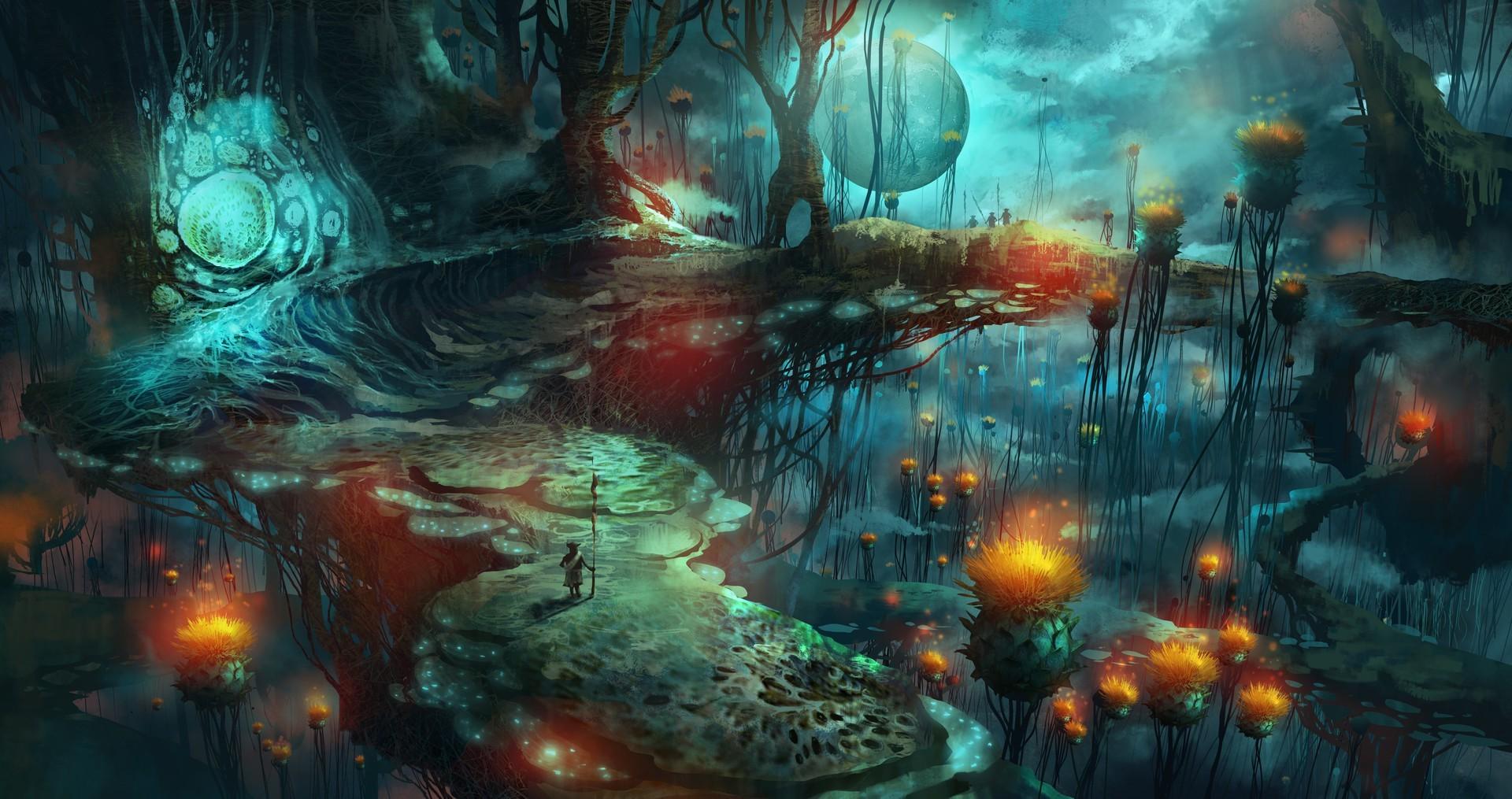 Digital Blasphemy 3d Wallpaper Free Wallpaper Fantasy Art Mushroom Magic Mushrooms