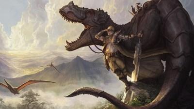 Wallpaper : fantasy art, weapon, dragon, dinosaurs, mythology, dinosaur, screenshot, fictional ...