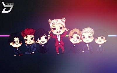 Wallpaper : illustration, anime, chibi, cartoon, Korean, K pop, Blockb, Zico, Jaehyo, P O, U ...