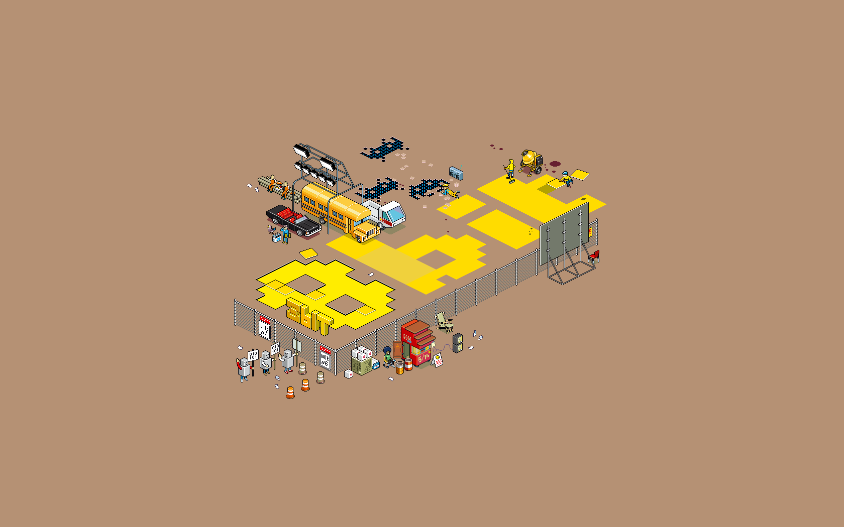 3d Dessin Facile Fond D 39écran Illustration Fond Simple Pixel Art