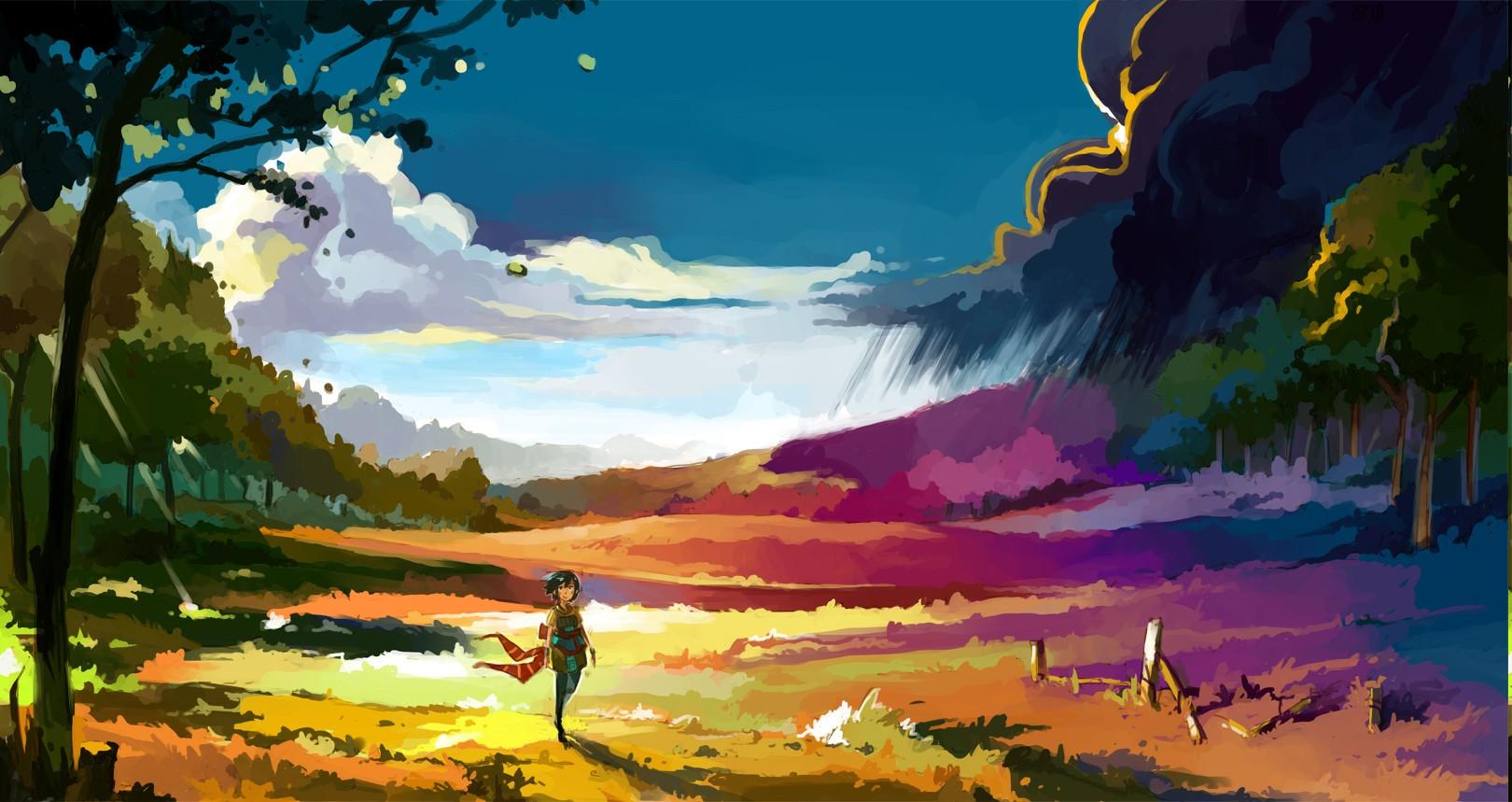 Cute Japanese Art 4k Wallpaper Fond D 233 Cran Paysage Color 233 La Peinture Illustration