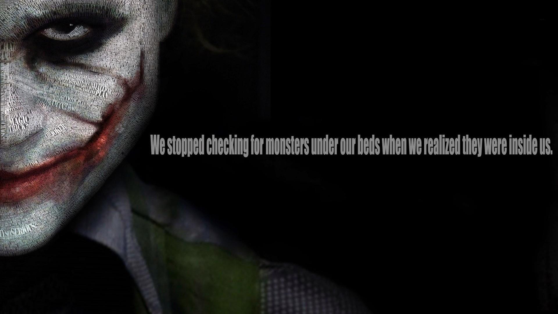 The Dark Knight Joker Quote Wallpaper Fond D 233 Cran Citation Le Chevalier Noir Homme Chauve