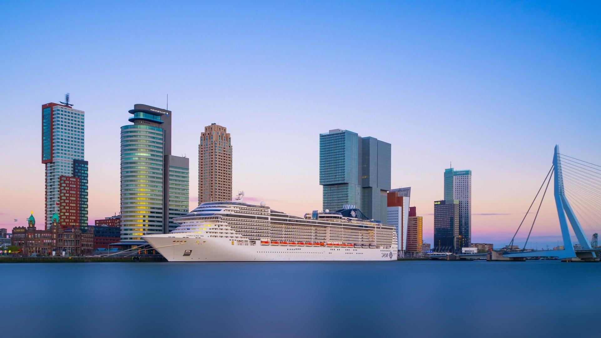 Skyscraper Wallpaper Hd Wallpaper Sea City Cityscape Reflection Vehicle