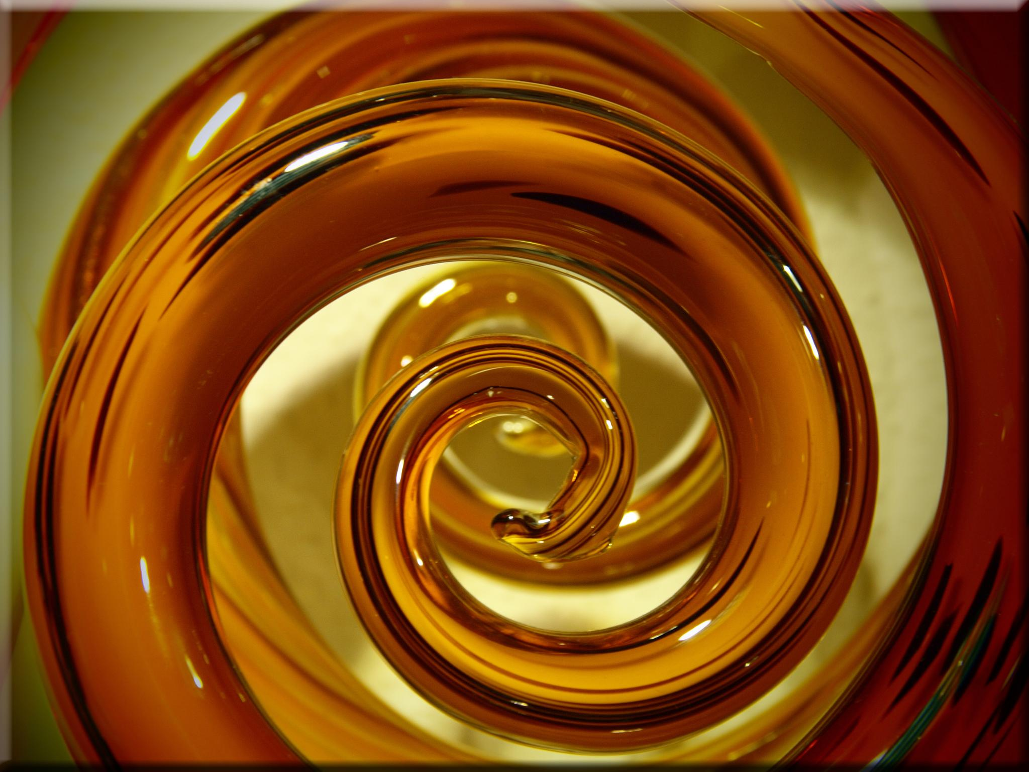 Glas Kunst Wallpaper Spiral Yellow Glass Orange Circle Art Glas