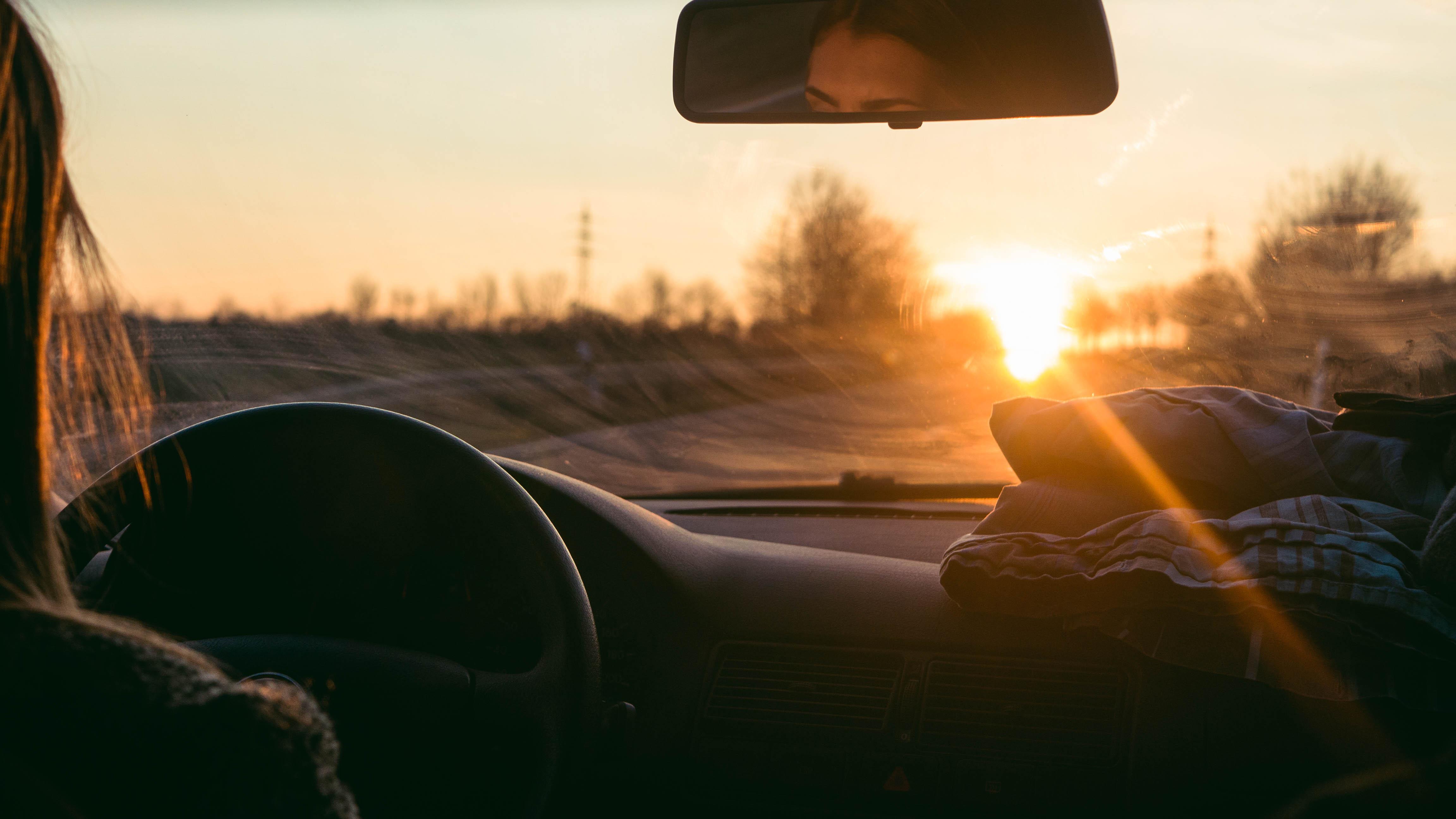 Car Window Wallpaper Wallpaper Sunlight Sunset Car Reflection Road