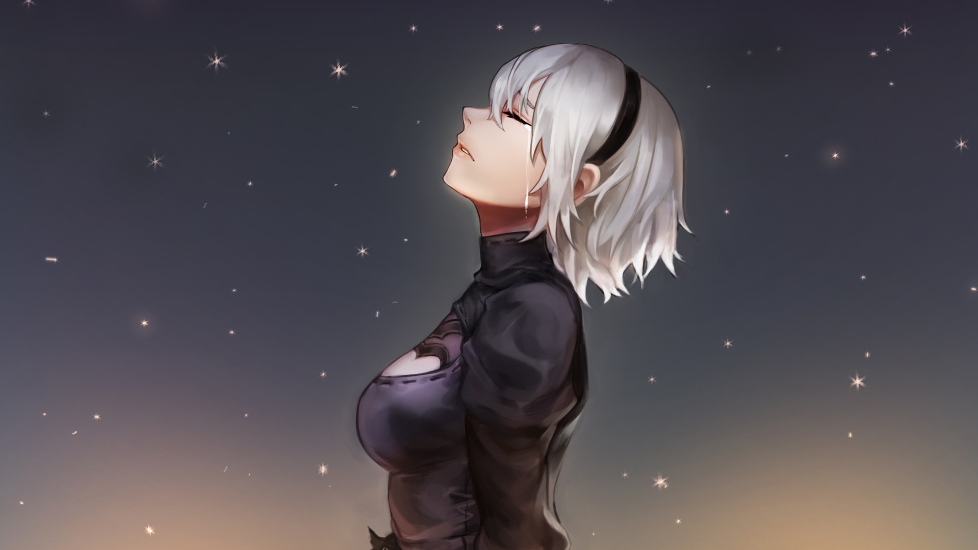 Sad Girl Mobile Wallpaper Wallpaper Video Games Nier Automata Nier Crying