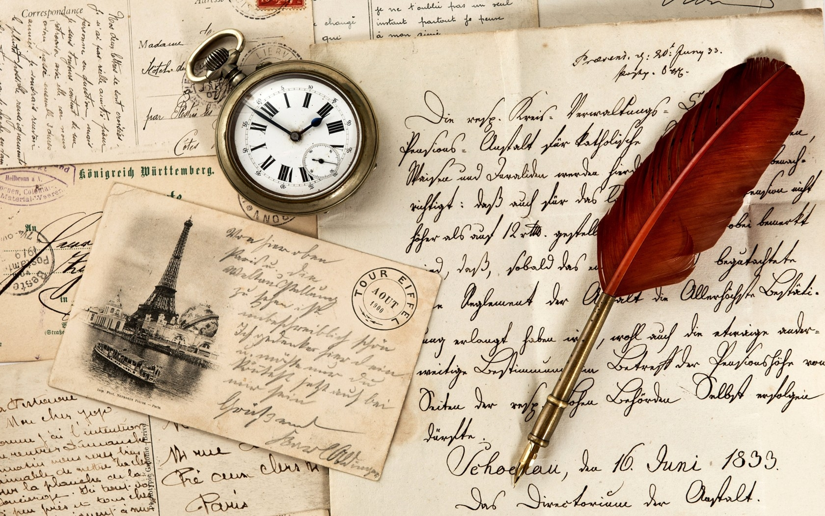 Wallpaper Writing Wallpaper Vintage Old Paper Pen Watch Writing Stamp