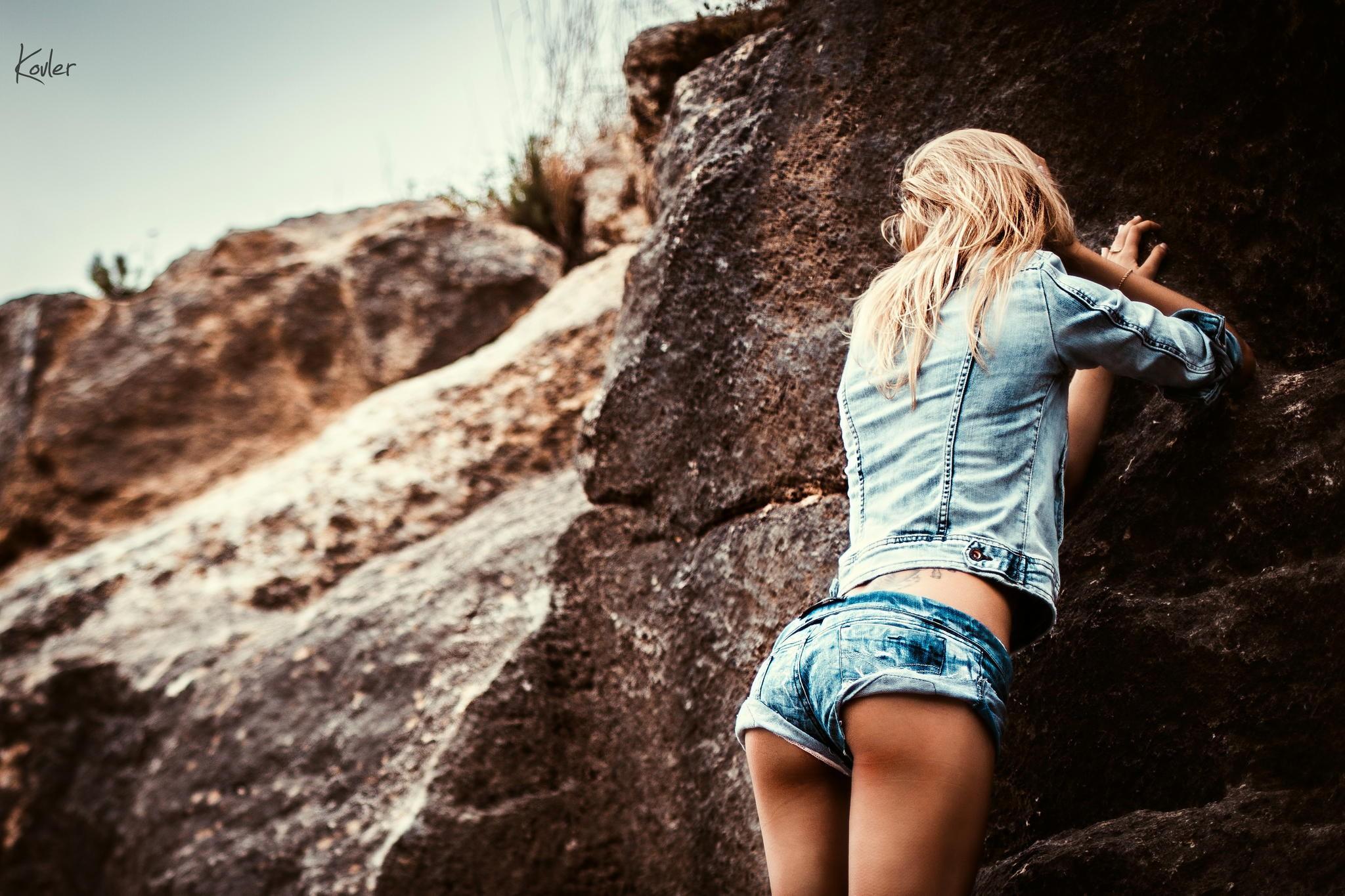 Nice Girl Wallpaper For Facebook Wallpaper Women Model Blonde Ass Photography Blue