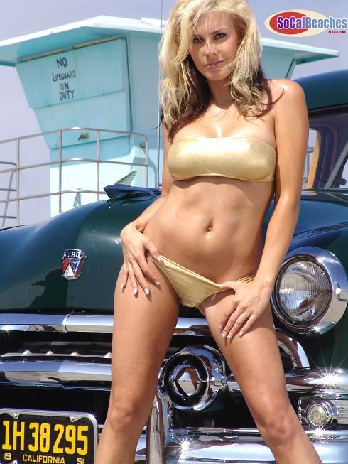 Dodge Challenger Car Wallpaper Bikini Girls And Classic Cars