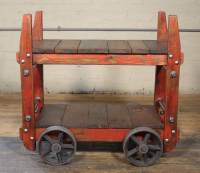 Industrial Bar Cart - Vintage Industrial by Get Back, Inc