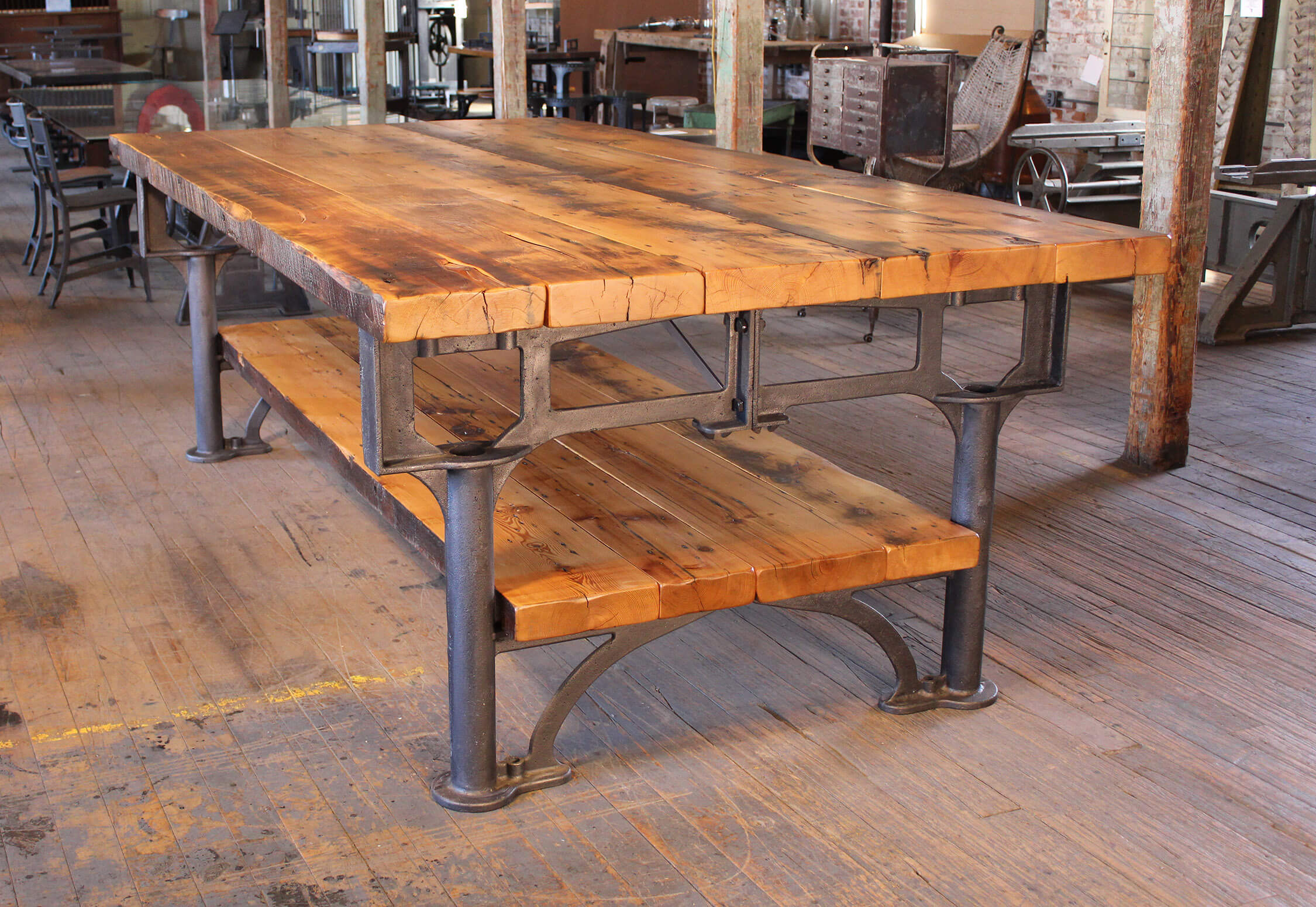 Kitchen Island Table Legs Harvest Island Vintage Industrial By Get Back Inc