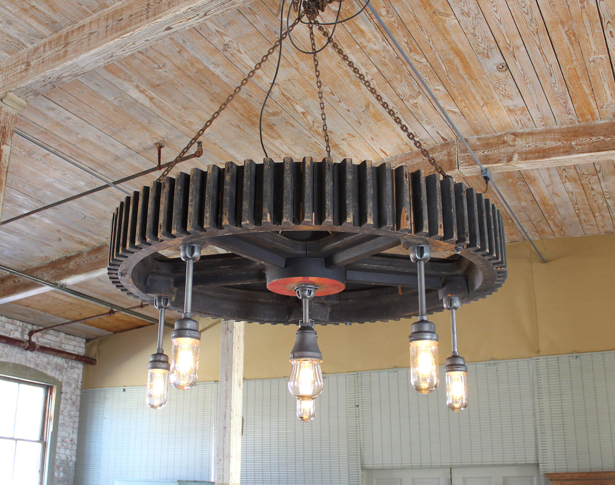 Industrial Vintage Lighting Industrial Explosion Proof Gear Chandelier Vintage