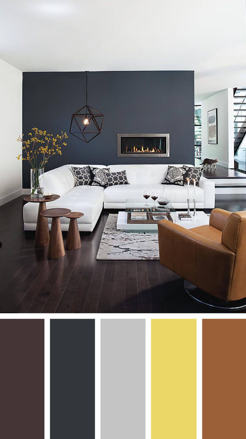 Accent Room Colors 57 Living Room Color Schemes To Make Color Harmony In Yours