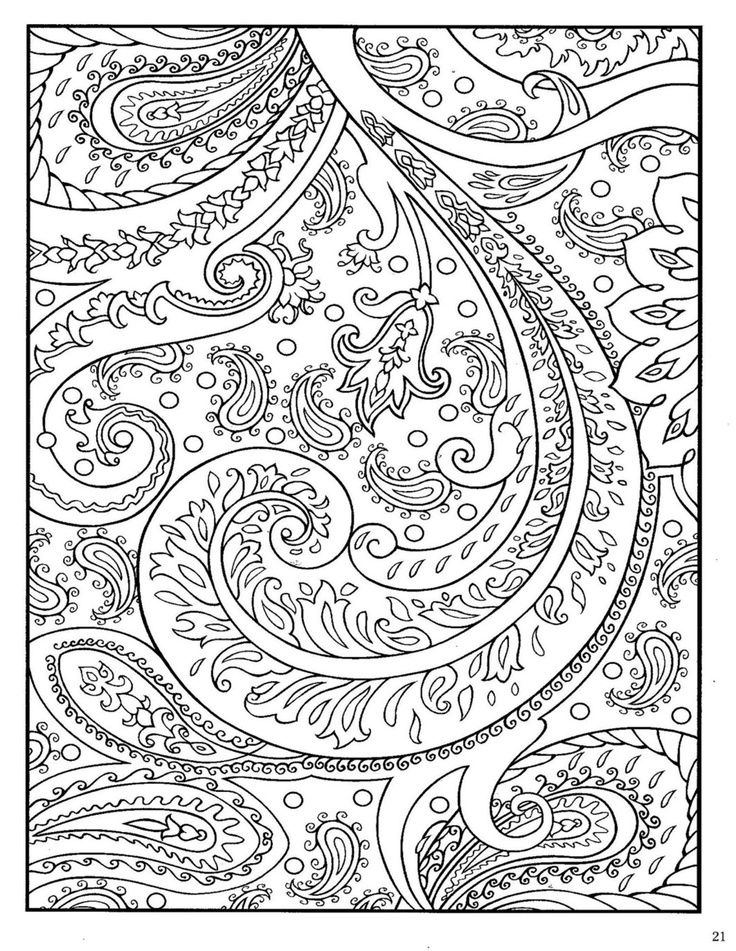 Adult Coloring Pages Paisley at GetColorings Free printable