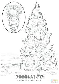 √ blank christmas tree coloring page