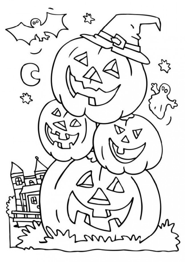 Free Printable Halloween Pumpkin Coloring Pages at GetColorings